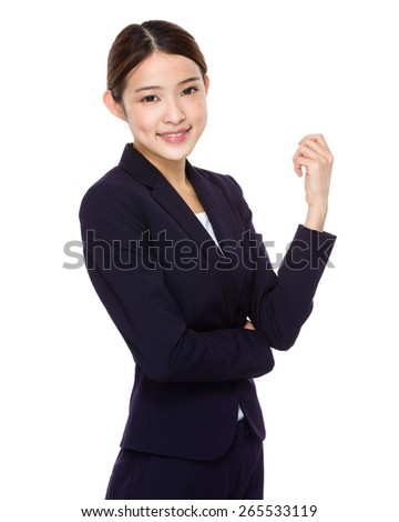 Attractive asian businesswoman - stock photo