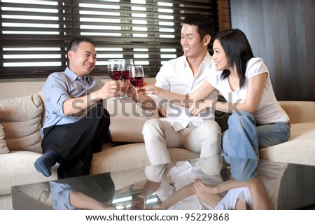Attractive Asian Couple - stock photo