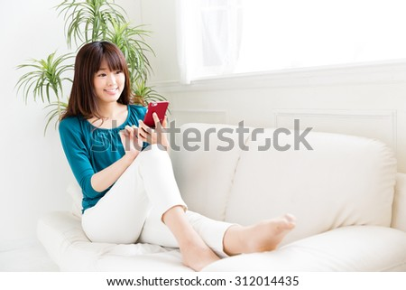attractive asian woman lifestyle image - stock photo