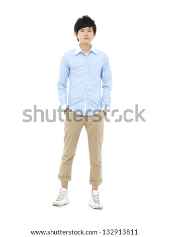 Attractive Asian young man - stock photo