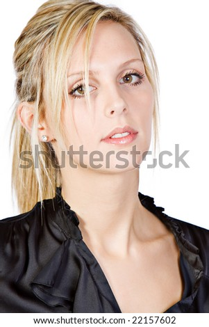 Attractive Blonde Business Woman - stock photo