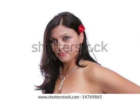 Attractive brunette - stock photo