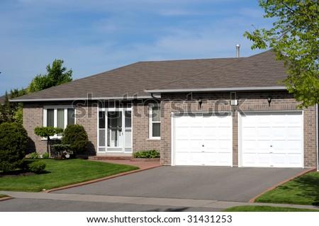 Attractive bungalow - stock photo