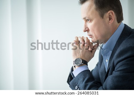 Attractive business man - stock photo