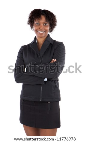 Attractive business woman a over white background