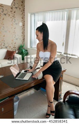 attractive business woman in the office
