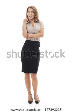 Attractive businesswoman with glasses - stock photo