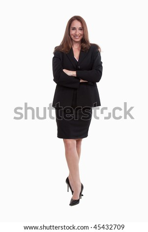 Attractive caucasian business woman in her twenties