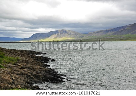 Attractive coastline in Iceland