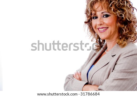 Attractive corporate lady posing - stock photo