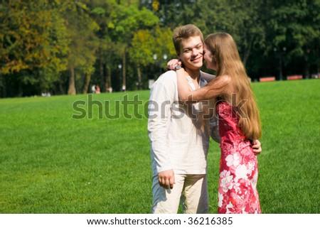 Attractive couple - stock photo