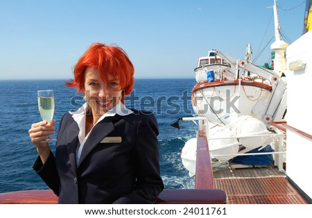 Cruise Ship Staff Stock Images RoyaltyFree Images Vectors - Staff on a cruise ship