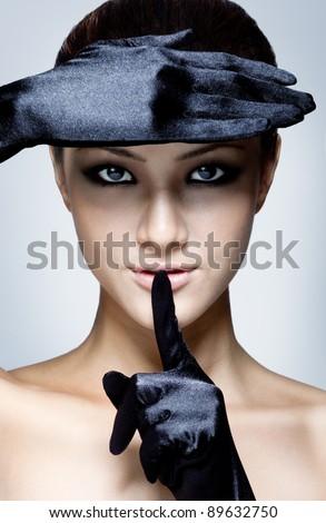 Attractive fashion portrait. - stock photo