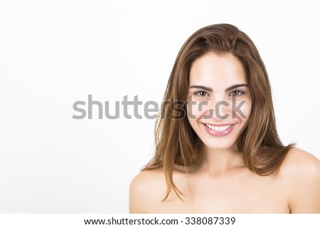 Attractive female smiling