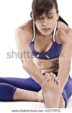 Attractive Fit Female with Tattoo - stock photo