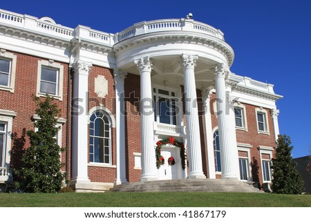 Attractive Georgian architecture on this turn of the century mansion in Tennessee - stock photo