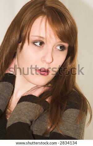 attractive girl - stock photo