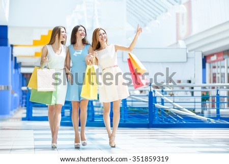 Attractive girl in the store - stock photo