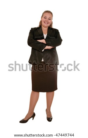 attractive happy business woman