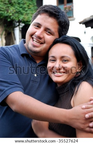 Attractive Hispanic Couple - stock photo