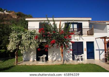 Attractive holiday villa in Cyprus - stock photo