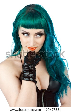 attractive interesting looking woman making expression