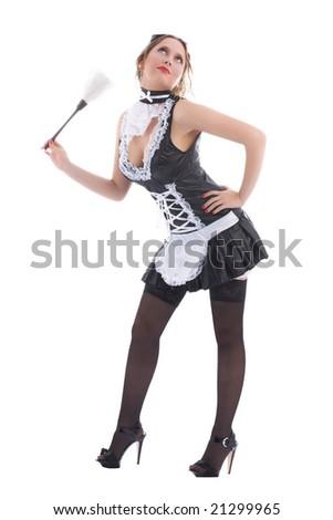 Attractive maid - stock photo