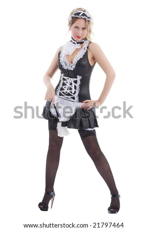 Attractive maid - stock photo