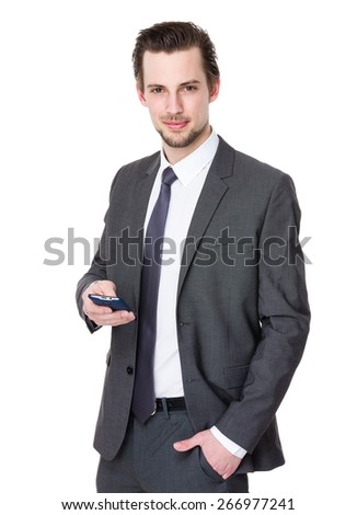 Attractive man with a mobile phone