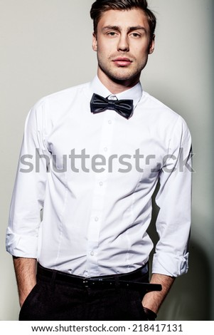 attractive men - stock photo