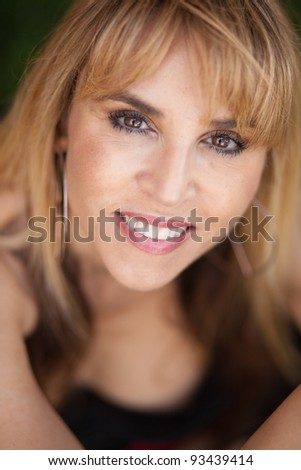 Attractive middle age woman portrait.
