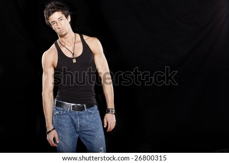 Attractive Muscular Man - stock photo