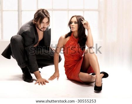 Attractive pair - stock photo
