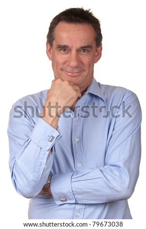 Attractive Smiling Middle Age Man - stock photo