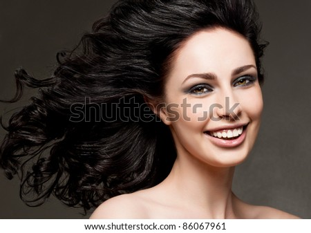 attractive smiling woman portrait - stock photo