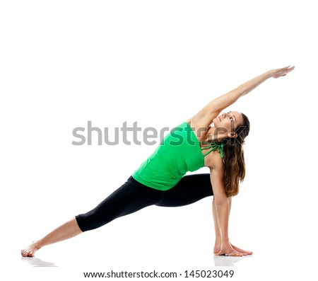Attractive sporty girl stretching - stock photo