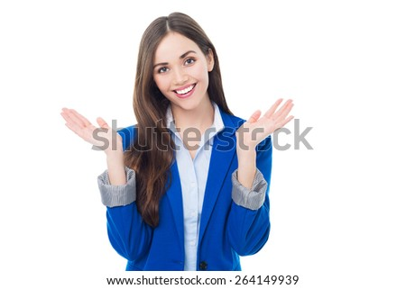 Attractive woman gesturing  - stock photo