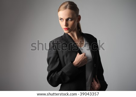 attractive woman in formal suit