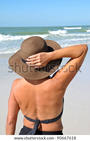 Attractive Woman on the Beach