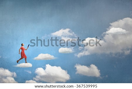 Attractive woman with book - stock photo