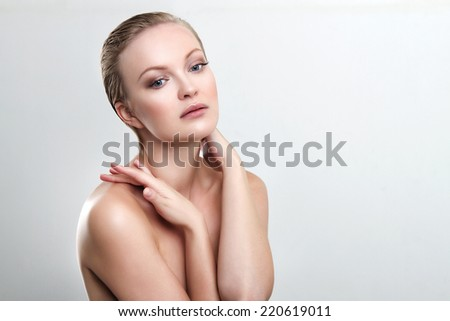attractive woman with clean skin