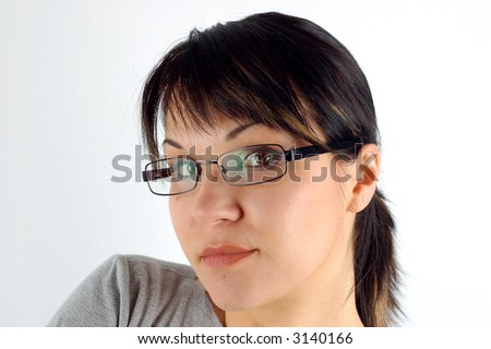 attractive woman with glasses #7 - stock photo