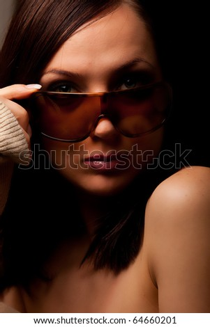Attractive woman with sunglasses