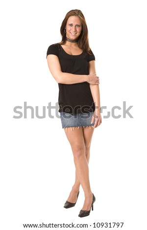 attractive young adult college student dressed for a weekend party