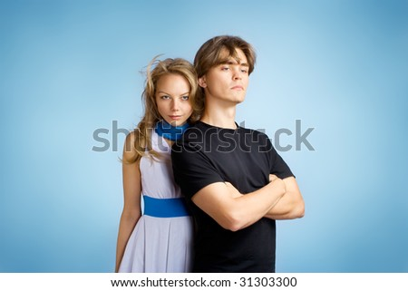 Attractive young adult couple