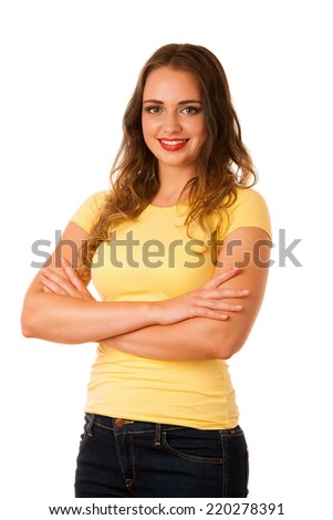 Attractive young asian caucasian woman gesture success with holding thumb up - stock photo