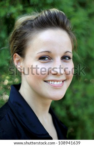 Attractive Young Businesswoman Smiling