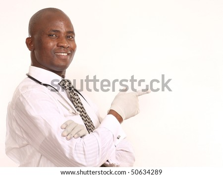 attractive young doctor - stock photo
