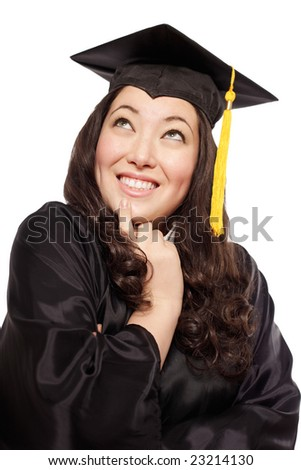 Attractive young graduating woman