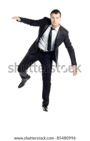attractive young guy in a suit and tie, posing